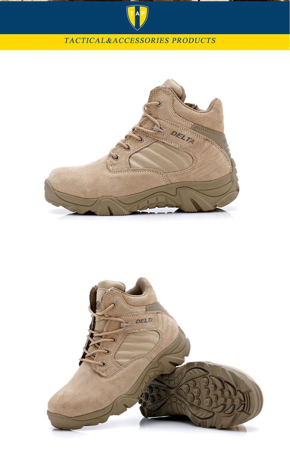 Delta Brand Military Tactical Boots Desert Combat Outdoor Army Hiking