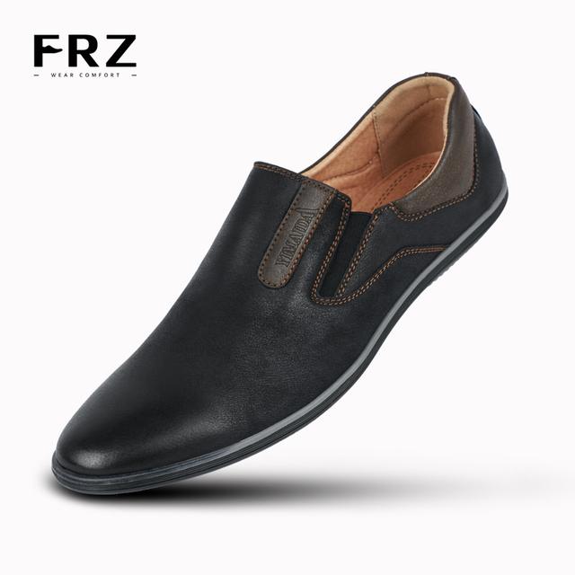 2016 FRZ бренды мода ручной работы дышащий действие кожи квартиры обувь - бездельников ...