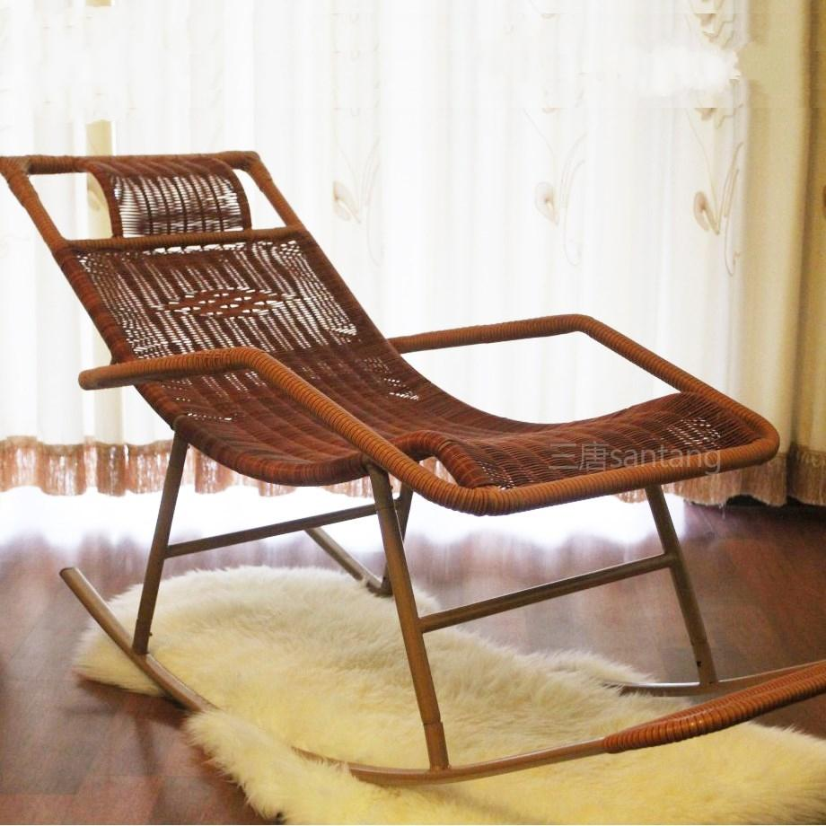 Cheap wicker chair rocking recliner couch Happy lazy