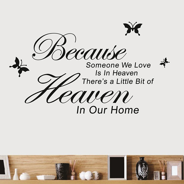 Simple Encourage Because Someone We Love In Heaven vinyl DIY Home Room Decor Wall Sticker Removable Art Decal