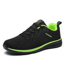 Новая сетчатая Для мужчин повседневная обувь Лак до легкая мужская обувь удобные дышащие работы теннисные кроссовки Feminino Zapatos размеры 38–45(China)