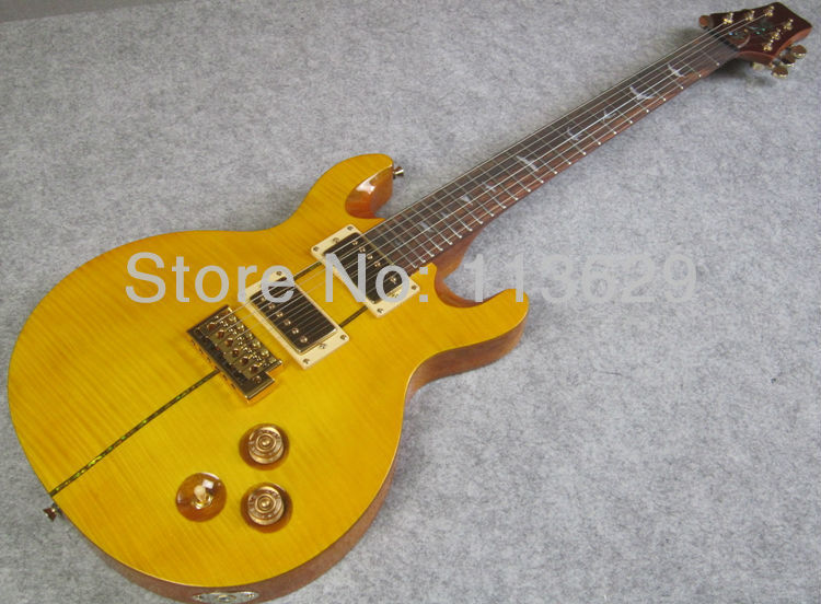 Double Cut Way Electric Guitar with Flamed Maple Top, PR Guitar Santana(China (Mainland))