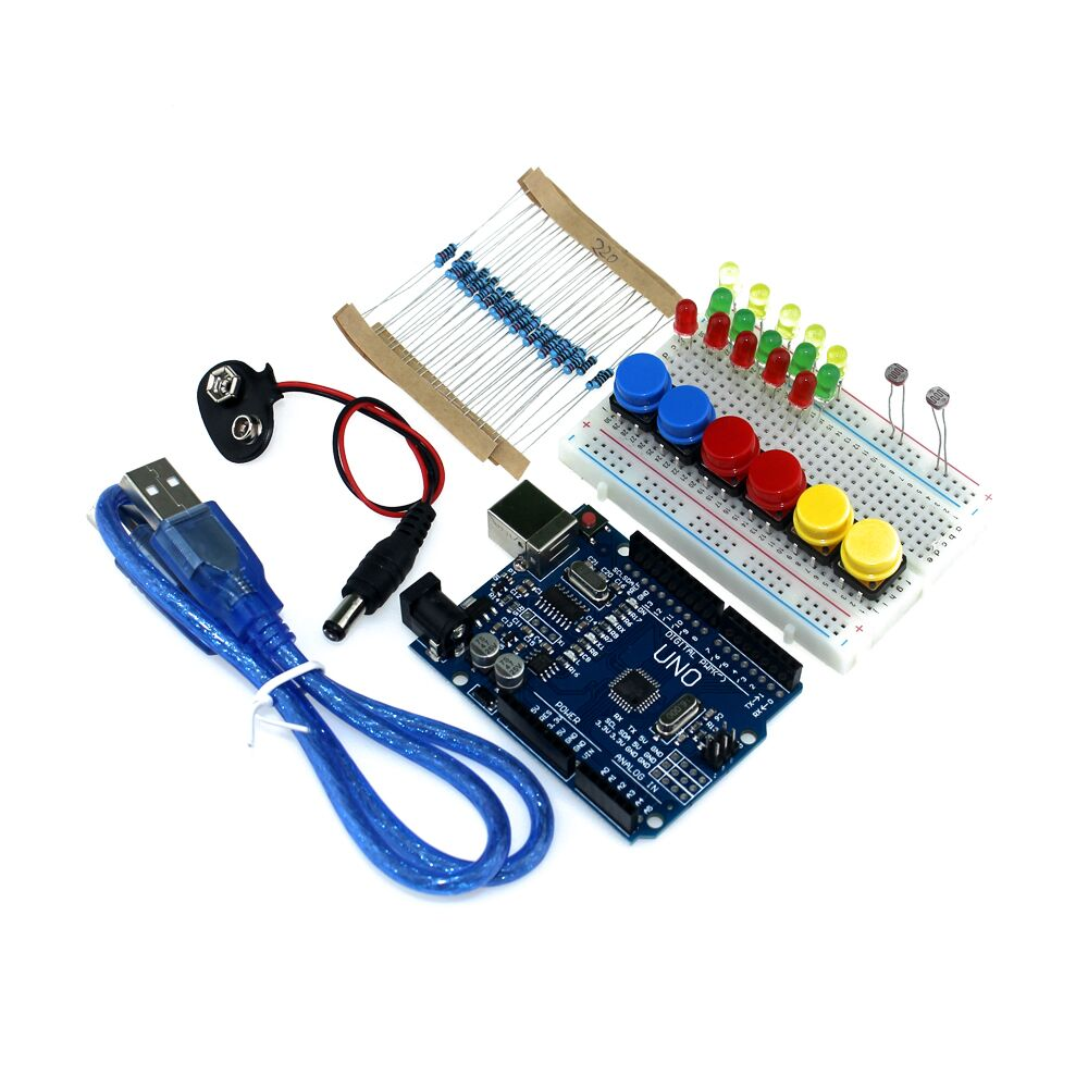 Free shipping new Starter Kit UNO R3 mini Breadboard LED jumper wire button for arduino compatile(China (Mainland))