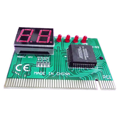 New PC diagnostic 2-digit pci card motherboard tester analyzer post code for computer #8004(China (Mainland))