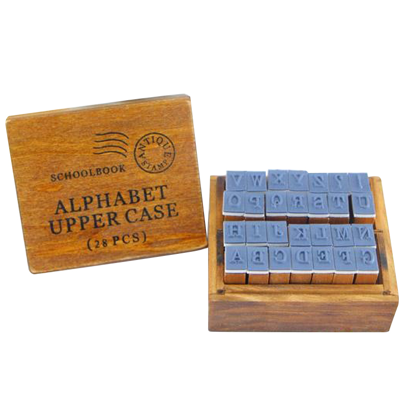 Anglais Cursive Digital English Stamp Wooden AlPhaBet Digital And Letters Seal Set Standardized Stamps(China (Mainland))