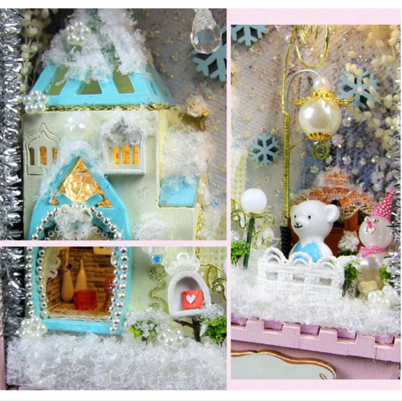 Diy Doll Home Miniaturas 3D Picket Puzzle Miniature Dollhouse Furnishings Artistic Items Dolls Home,Miniatura Room Field Theatre