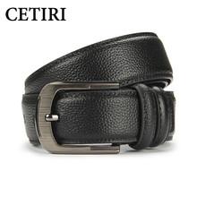 Buy Mens Cowhide Leather Formal Brand Luxury Belt Men's Genuine Cowskin Pin Buckle Belt Designer Belts Men High Waistband for $10.10 in AliExpress store