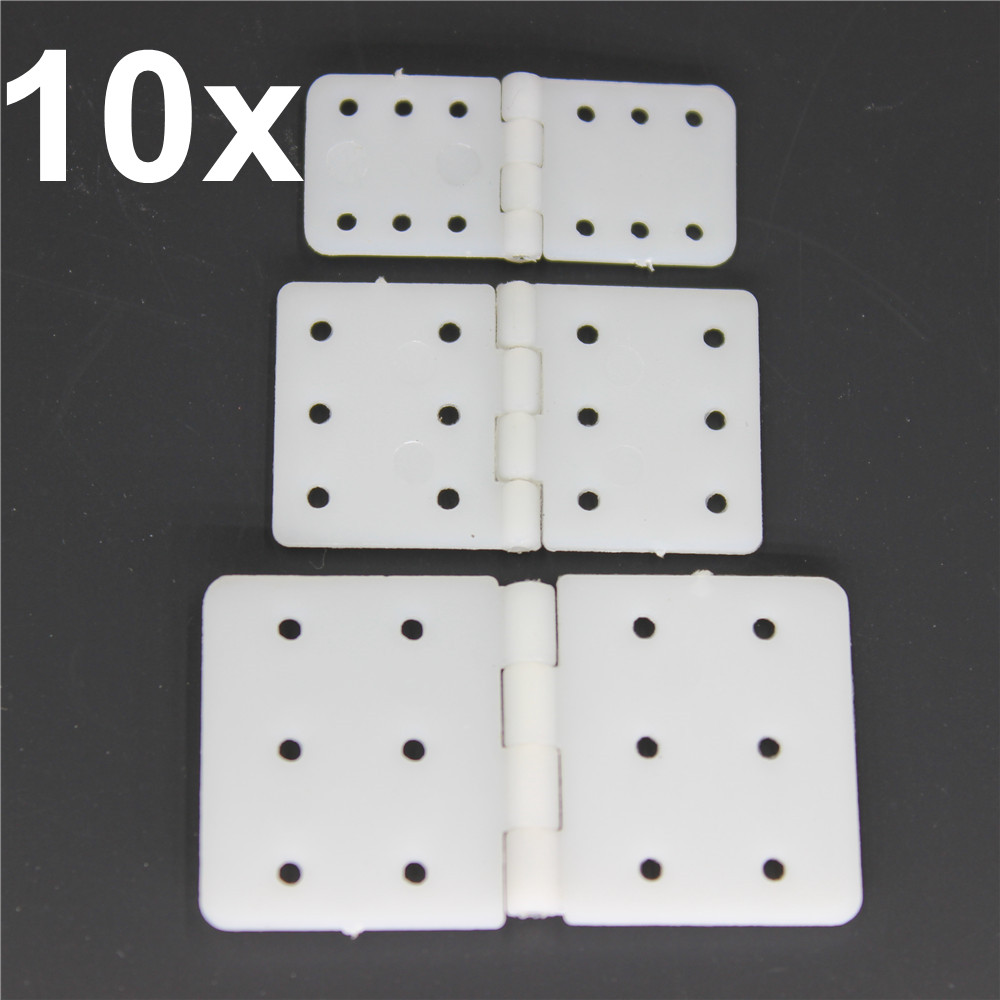 10pcs Plastic Pinned Nylon Hinges 20x36 mm / 16x28.5 / 11x25.5 For RC Airplanes Parts Model Aeromodelling Replacement(China (Mainland))