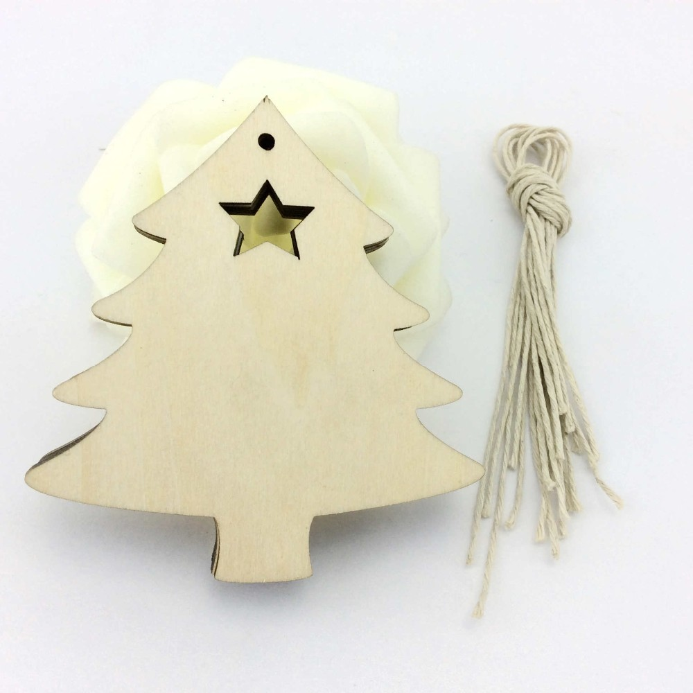 Christmas Tree Craft Project Wood Cutout TREE for free shipping(China (Mainland))
