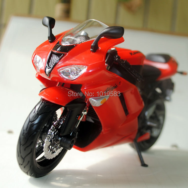 (6pcs/pack) Wholesale Brand New Motorbike Model Toys Kawasaki Ninja ZX 6R 1/12 Scale Diecast Motorcycle Model Toy -Free Shipping(China (Mainland))