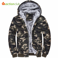 Buy ACTIONCLUB Winter Men Hoodies Tracksuits Hooded Men Male Warm Thick Sweatshirt Camouflage Hoodies Plus Thick Velvet for $30.99 in AliExpress store