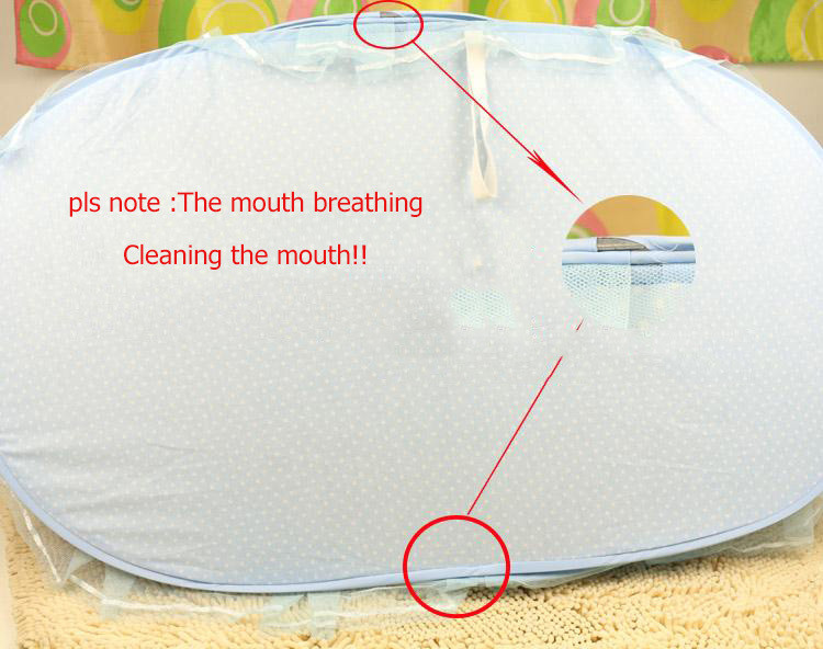 Instant Baby Infant Pop Up Mosquito Net Crib Beach Play Tent Bed Playpen Portable Foldable Travel (3)