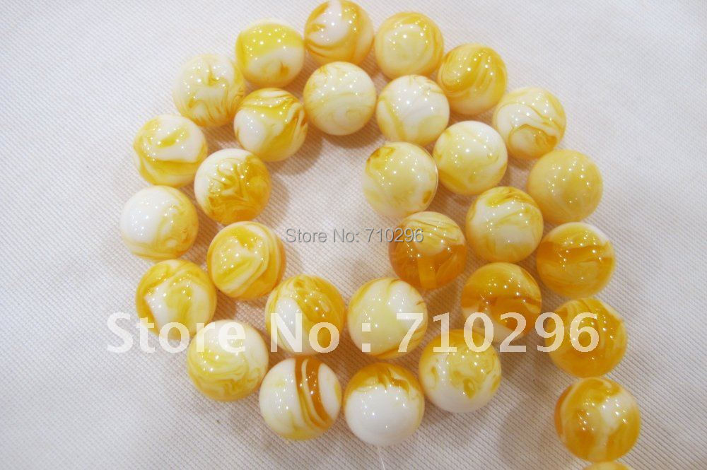 Amber Beads 5 strings/lot 14 mm Amber Resin Gemstone Jewelry Beads 40 cm/string.Free shipping