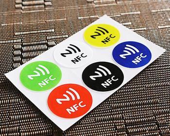 6 шт./Lo ISO14443A NFC Теги Наклейки 13.56 МГц Ntag 213 NFC Наклейки Универсальный Lable Ntag213 RFID Тег для все NFC позволит