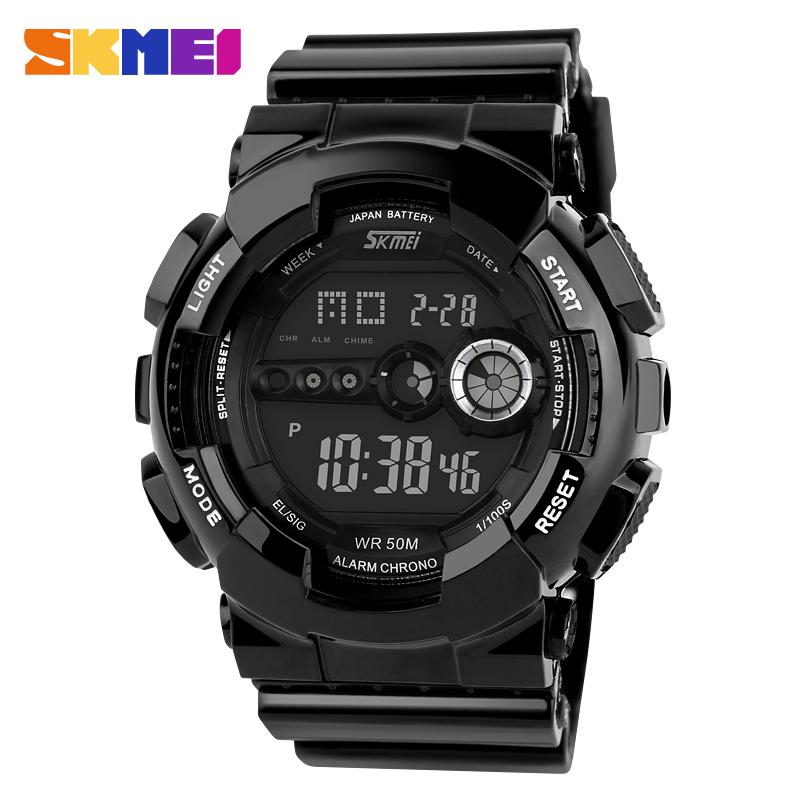 2015 SKMEI Luxury Brand New Men Military Sports Watches Digital LED Quartz Wristwatch  5AT Waterproof Watch Relogios Masculinos