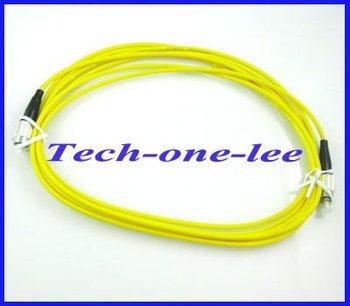 10pcs/lot FC to FC fiber patch cord jumper cable, SM, simplex 3m