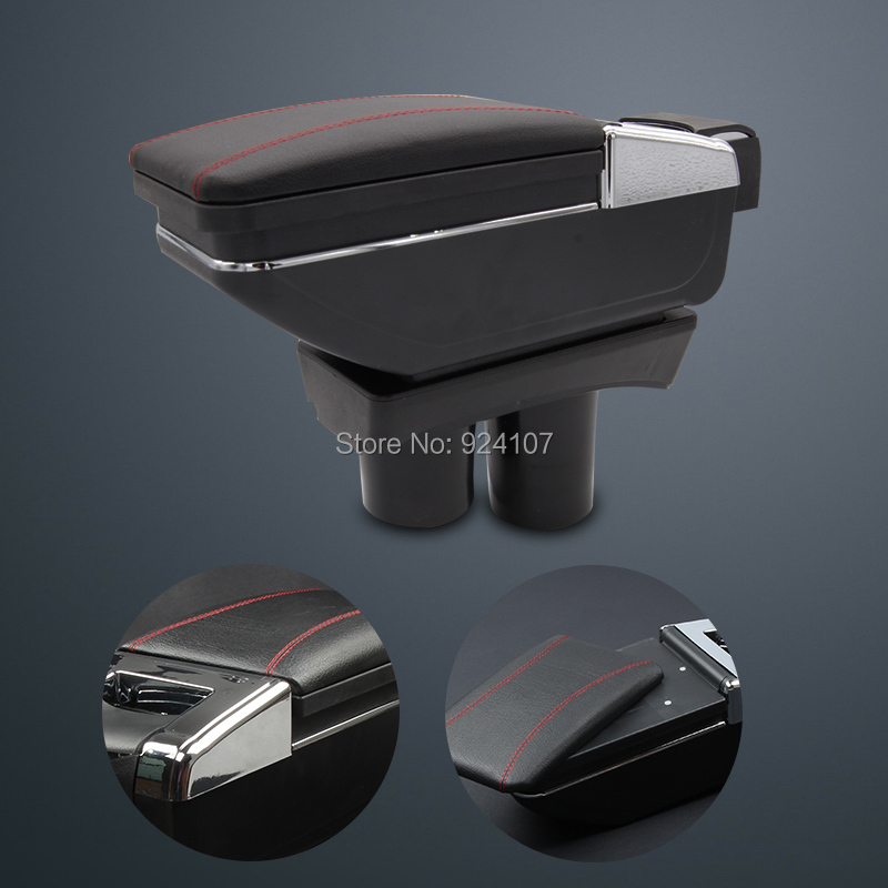 Car armrest central Store content Storage box with cup holder ashtray accessories 3 color,suitable for Peugeot 301 2012-2014(China (Mainland))