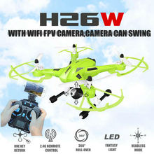 2016 New JJRC H26 H26W 2.4G 4CH 6 Axis Gyro Wifi FPV RC Quadcopter Real-time Transmission RC Drone with HD Camera vs U818S U842