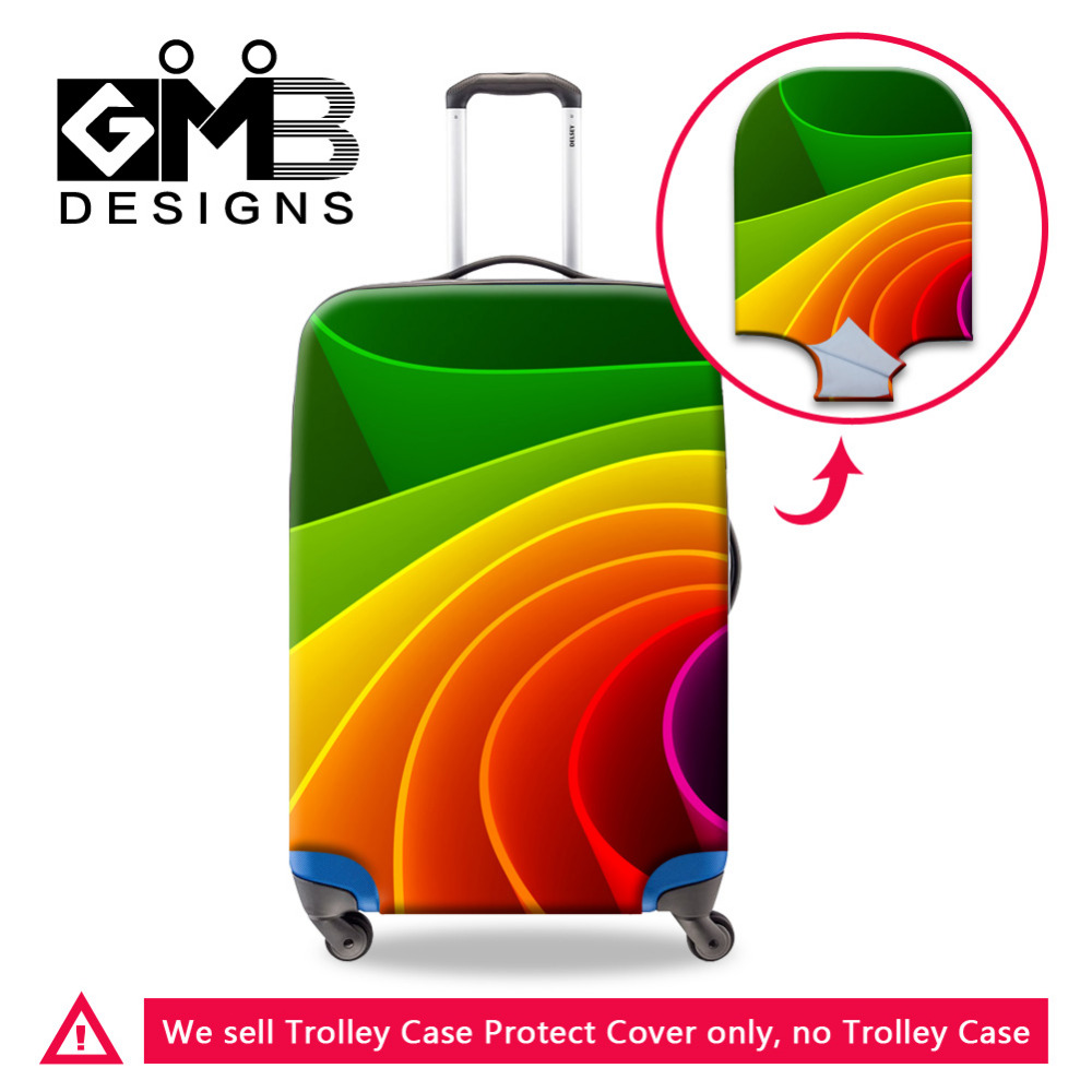 Durable 3D Striped Print Travel Accessories Elastic Luggage Protective Covers For 18-30 Inch Trolley Case Suitcase Protector(China (Mainland))