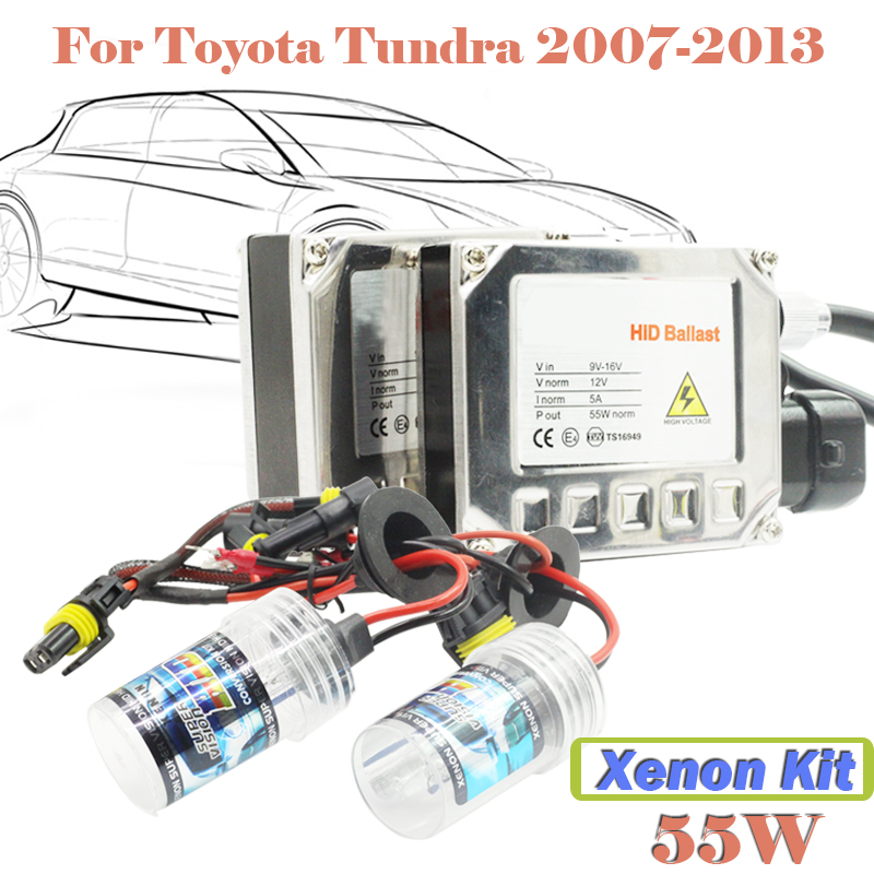 55W Conversion HID Xenon Kit 3000K-15000K Car Headlight Head Light For Tundra 2007-2013 ( 1 Pair Ballast + 1 Pair Bulb)(China (Mainland))