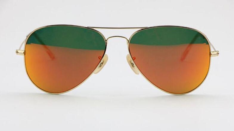 2015 luxury brand designer sunglasses women men heavy retro OEM 411 gold frame orange lens(China (Mainland))