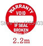 Free shipping Fragile stickers Warranty card Tear is invalid Product labeling 3000pcs/lot 2.2cm,(China (Mainland))
