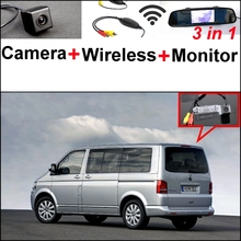 Buy 3 in1 Special Camera + Wireless Receiver + Mirror Monitor DIY Parking System Volkswagen VW T5 Transporter Caravelle Multivan for $69.36 in AliExpress store