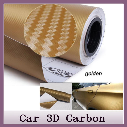 New 2014 Car Styling 30*127cm DIY Waterproof Car Stickers 3D Car Carbon Fiber Vinyl Many Color Available Decorative Film Paper(China (Mainland))