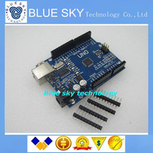 Free Shipipng 1pcs UNO R3 MEGA328P CH340G for Arduino Compatible Improved version,expert version NO USB CABLE(China (Mainland))