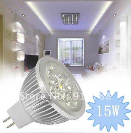 LED lamp 5X3W 15W Dimmable MR16 GU5.3 Warm White/Cool white High Power Spot LED Light Bulb DC/AC12V ,Free Shipping<br><br>Aliexpress