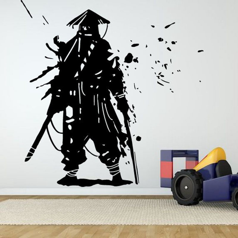 Kendo sticker samurai decal japan ninja poster vinyl art for Cars wall mural sticker