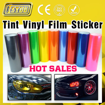 Car Styling 12 Colors 30cm x100cm Auto Car Light Headlight Taillight Tint Vinyl Film Sticker Hot Sales Stick whole car