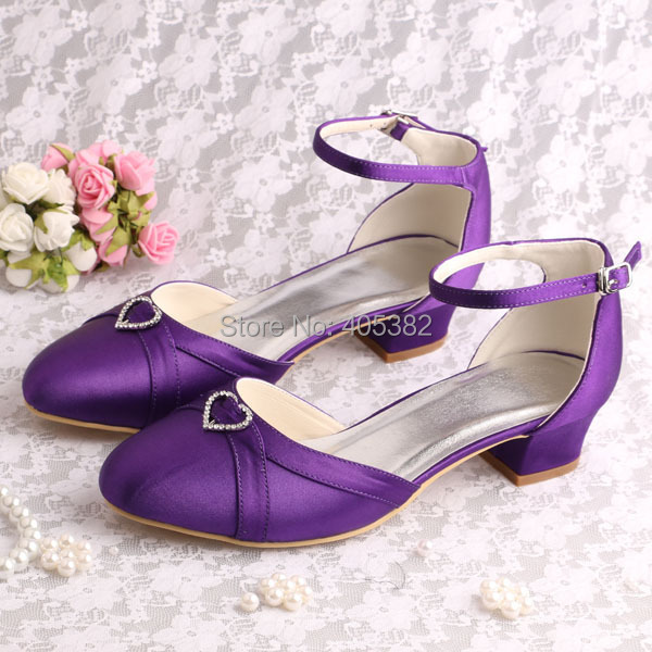 Popular Purple Satin Low Heel Shoes-Buy Cheap Purple Satin Low ...