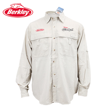 2016 Berkly Brand high quality polyester quick dry fishing clothes sunscreen clothing SP30+ S M L XL XXL lure sun protection(China (Mainland))