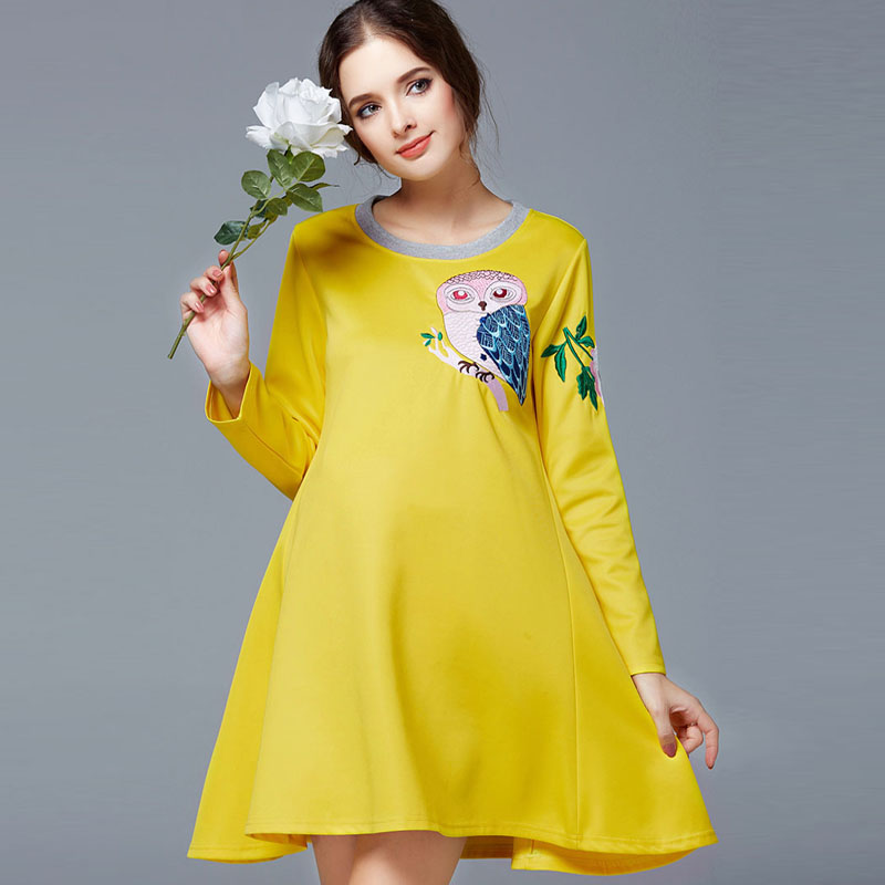 Maternity one-piece dress maternity clothing fashion loose autumn maternity top long-sleeve maternity dress