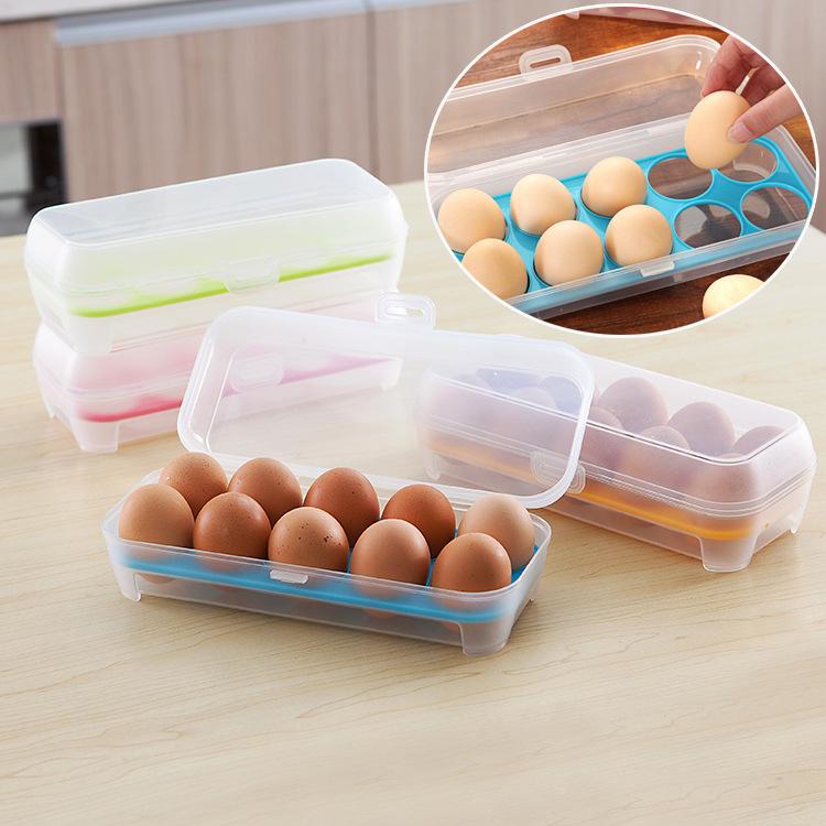 2016 new 10 Georgia Savings Plastic Food Chicken Egg Holder Storage Bin Box Hamper Portable Egg Container Carrier Case Basket(China (Mainland))