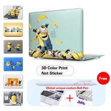 Minions Throw Bananas New Crystal Case For Apple Macbook Air Pro Retina 11 12 13 15 Laptop Bag For Mac Book 13.3 Inch