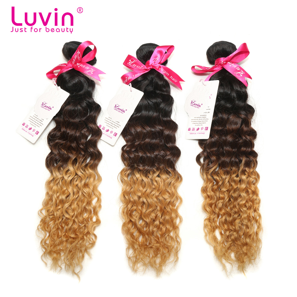 Hot Sale Deep Wave Ombre Brazilian Virgin Human Hair Extensions 3 Bundles Lot Ombre Weave Rosa Hair Products Free Shipping