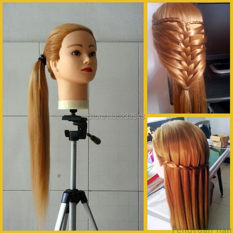 Long Hair Manikin Head Fiber Long Hair With