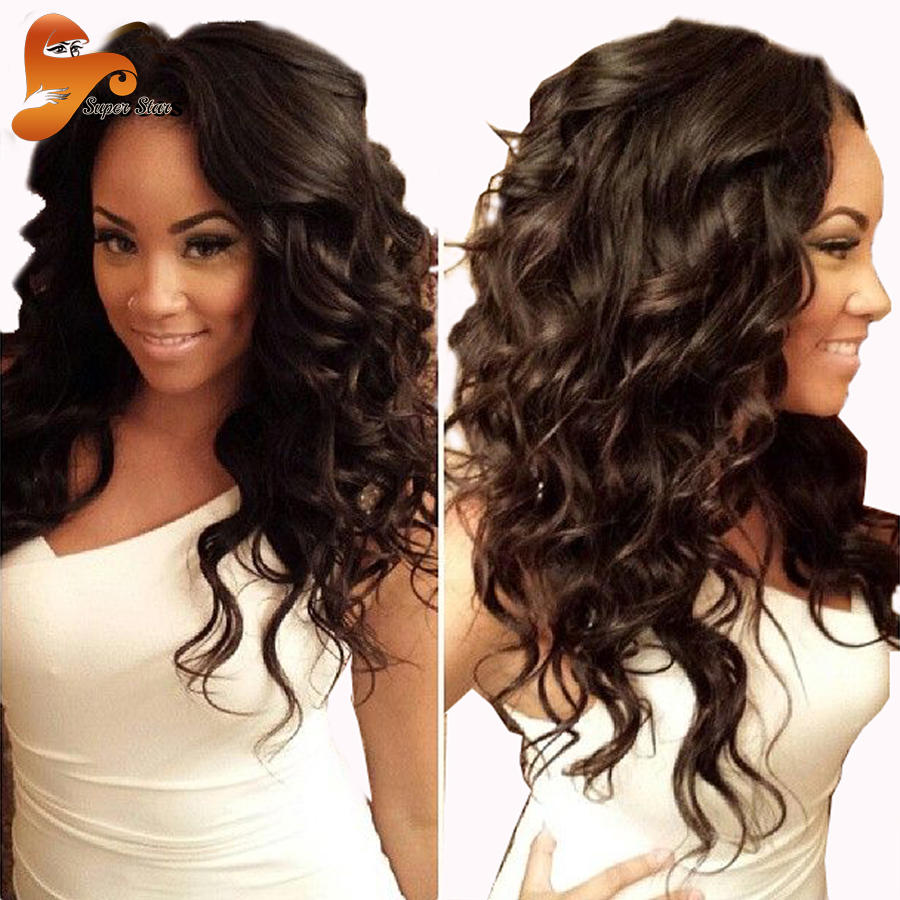 Фотография 150 Density Human Hair Lace Front Wigs Black Women Brazilian Body Wave Lace Front Wig Virgin Hair Full Lace Wigs With Baby Hair