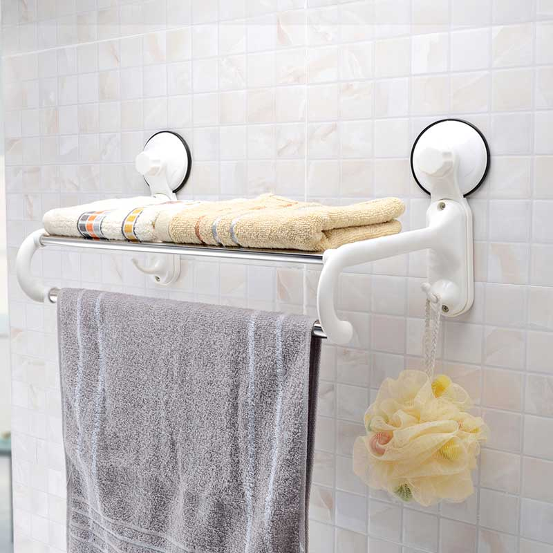 holder towel suction cup towel rack stainless steel bath towel rack 40cm(China (Mainland))