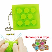 Creative Mugen Puchi Puchi Keychain,Puti Puti Electronic Bubble Wrap Keyring Pop infinite air bubble Vent Decompress speaker toy(China (Mainland))