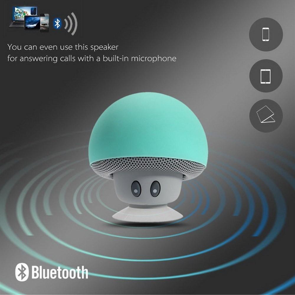 Wireless Mini Bluetooth Speaker Portable Mushroom Waterproof Stereo Bluetooth Speaker for Mobile Phone iPhone Xiaomi Computer