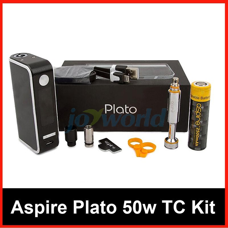 100% Aspire Plato TC Package 50W four.6ml Sub ohm atomizer Nautilus Coils with 18650 Battery vs Kanger Dripbox Nebox Starter Package YY (11)