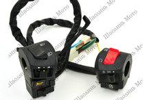 "1 pair fog light+emergency light motorcycle Switch Power 12V Universal Motorcycle Bike ATV Dirt 7/8"" Handle switch Free Shipping(China (Mainland))"