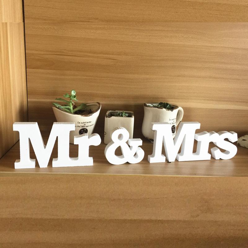 1 set mr mrs wedding reception solid wooden letters for Decoration 11 letters
