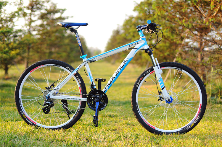 Laux Jack 26inch white black mountain bike dual disc brake 24speed alloy bicycle frame alloy ...