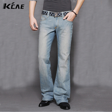 High Quality New arrival 2014 men's bell bottom jeans male elastic slim denim boot cut trousers 27-36