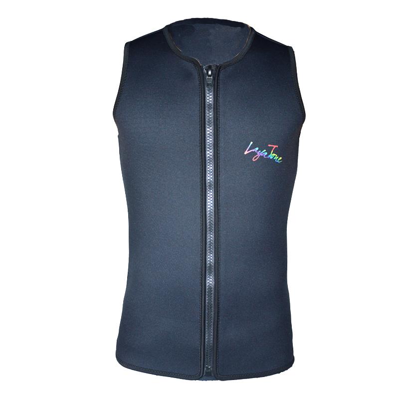 Layatone black Men Women 3mm Neoprene Wetsuit Vest for Diving Spearfishing Water-Skiing K1602U(China (Mainland))