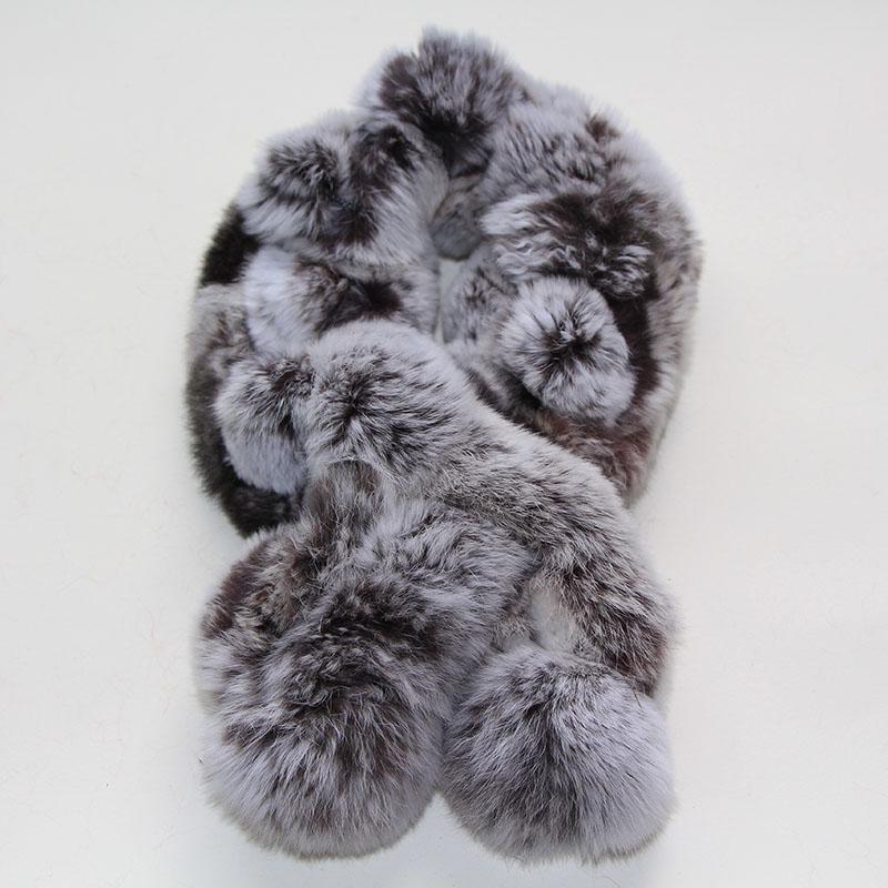 2013 ree shipping real rex rabbit hair scarf muffler scarf rex rabbit women's fur ring neckerchief(China (Mainland))